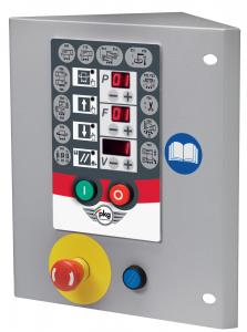 Microprocessor control panel with digital display to choose the wrapping cycleand to adjust machine parameters (with possibility of customizing the wrapping cycle)
