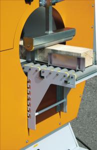Optionals: Entry and exit rollers adjustable in height / Mechanical pressure unit
