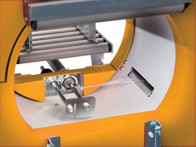 Automatic film cutting and clamping as standard